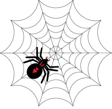 蜘蛛简笔画矢量图